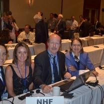 Delegates to the Codex Committee on Vet Drug Residues in Foods. Scott Tips, head of National Health Federation delegation with Kat Carroll. Diane Miller and Anne Tenner guests delegates from National Health Freedom Coalition based in MN.
